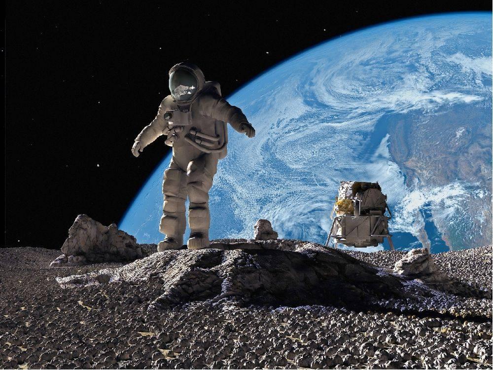 лося, картинки людей на луне же